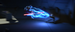 Dooku lightning throw