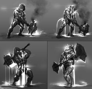 Elemental Talos Concept Art 3 By Anthony Jones