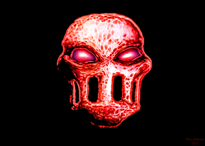 Splatterhouse mask cut out
