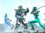 Green Mutant vs Dragon Zord