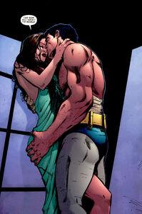 Talia al Ghul and Bruce Wayne
