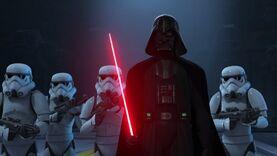 Vader enters
