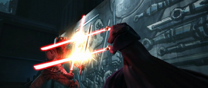 Darth Maul Sidious clashed