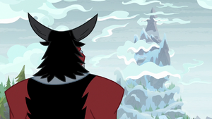 Lord Tirek facing the tall mountain S9E8