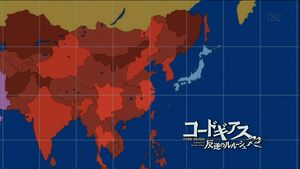 Chinese Federation, Map (Code Geass Anime)