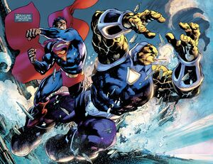 Mongul punch by Superman