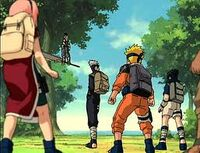 Zabuza encounters Team 7