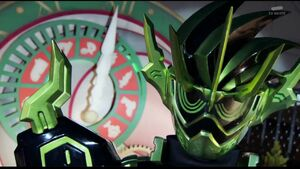 Kamen Rider Cronus face