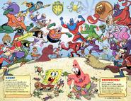 Mermaid Man and Barnacle Boy Heroes vs. Villains