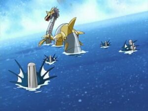 MetalSeadramon with Divermons