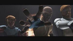 Star Wars The Clone Wars - Anakin, Obi-Wan & Mace Windu Interrogates Cad Bane 1080p
