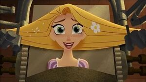 Tangled the Series - What the Hair?! - Trying To Shine Hair - CLIP