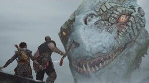 God Of War 4 - The World Serpent Encounter Scene