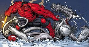 Red Hulk vs Wendigo 08