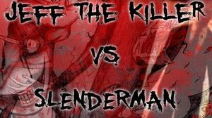 """Jeff the Killer vs Slenderman"" by Dylan Roberts (CustomCreepyPasta)."