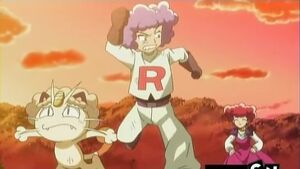 James and Meowth Get Chased