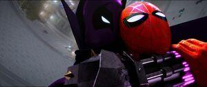 Prowler strangling Spider-Man