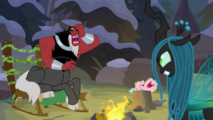 Tirek and Cozy laughing uncontrollably S9E8