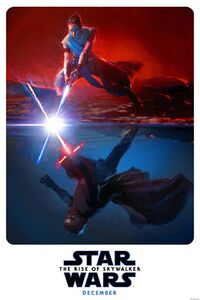 Rey and Kylo the rise of skywalker poster