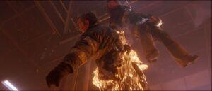 John on fire