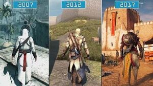 All Assassin's Creed Games (2007- 2017) Graphics Evolution HD-0