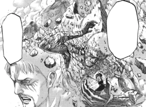 Reiner's armor is stripped from his Titan
