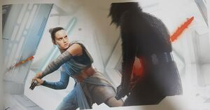 Rey in Kylo's Sanctuary art 2