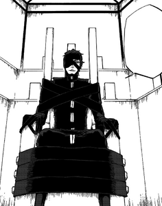 Aizen awaits his sentence manga version