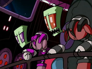 Red and Purple talking about Zim