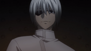 Mutsuki with white hair TG anime