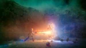 Oliver Queen fights the Anti-Monitor