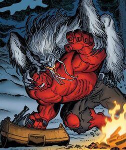 Red Hulk vs Wendigo 02