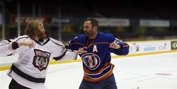 Glatt & Cain fighting