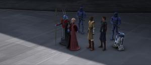Chancellor Palpatine folded