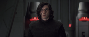 Kylo Ren in the throne room