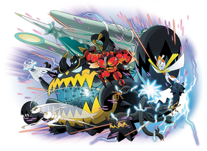 Sun Moon Ultra Beasts artwork