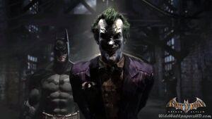 Batman-With-Joker-In-Pen-Batman-Arkham-Asylum-Wallpapers
