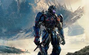 Optimus prime transformers the last knight-wide