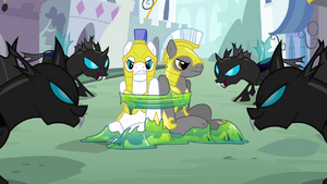 Changelings with the captured guards