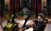MARVEL Bowman And Hawkeye Duel