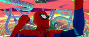 Doctor Octopus ambushing Peter B. Parker