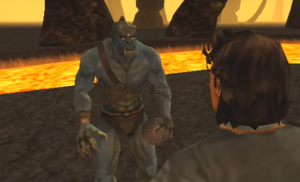 Moloch's cameo in Konquest Mode.