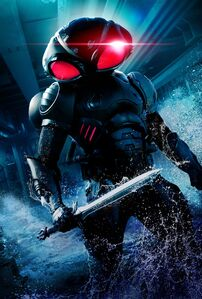 Aquaman Black Manta Character Textless Poster