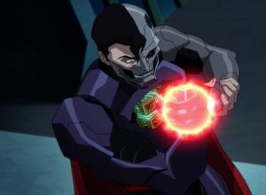 Darkseid controlling Cyborg Superman