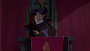 Frollo's angry stare