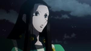 Illumi brings Hisoka up to speed