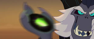 The Storm King hurling the obsidian sphere MLPTM