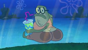 Bubble Bass Mooning Sandy, Spongebob, and Squidina