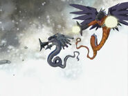 Megadramon and Gigadramon fire