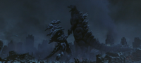Godzilla Final Wars - 5-1 Monster X Grabs Godzilla